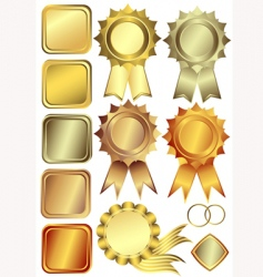 gold silver and bronze frames vector image vector image