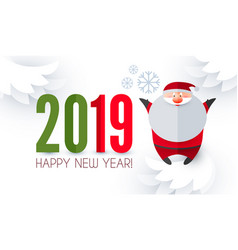 happy ner 2019 year christmas design template vector image