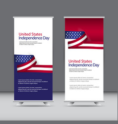 Happy united states independence day celebration vector