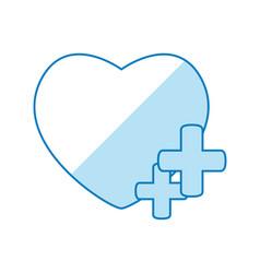 Heart social media symbol vector