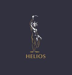 Helios the sun god vector