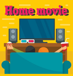 home movie concept background flat style vector image