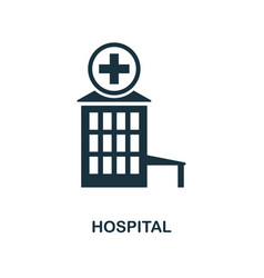 hospital icon monochrome style design from city vector image