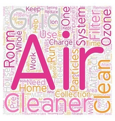 How Electronic Air Cleaners Work text background vector