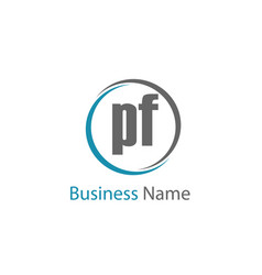 Initial letter pf logo template design vector