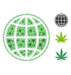 Internet mosaic of marijuana vector