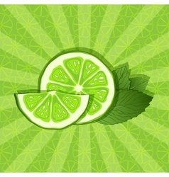 Lime and mint background vector