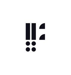 logo letter f black and white vector image