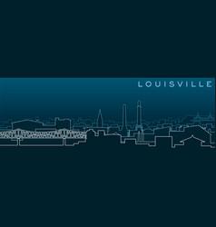 Louisville multiple lines skyline and landmarks vector