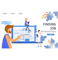 Man finding doctor job occupation in laptop vector