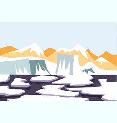 Melting snow on water ice and glacier thaw vector