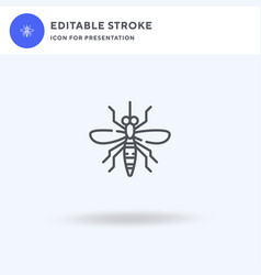 mosquito icon filled flat sign solid vector image