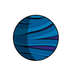 Neptune planet isolated vector