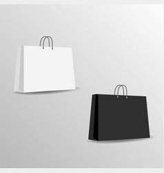 paper bag mock up template vector image