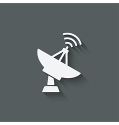 parabolic antenna symbol vector image