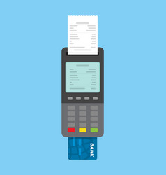 Payment using pos machines for credit and debit vector