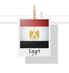 photo of egypt flag vector image