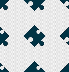 Puzzle piece icon sign seamless abstract vector