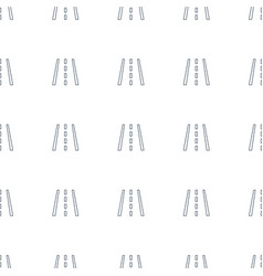 Runway icon pattern seamless white background vector