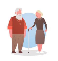 Senior man and woman couple grandmother and vector