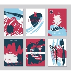 Set of abstract creative artistic cards vector
