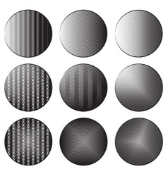 set of round banners with engraving shading vector image