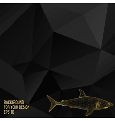 shark The structural grid of vector image