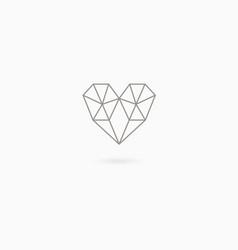 Simple linear heart vector