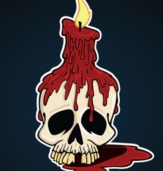 Skull with candle vector