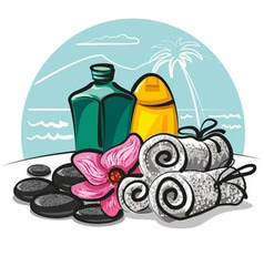 spa products collection vector image