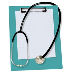 Stethoscope on blank vector