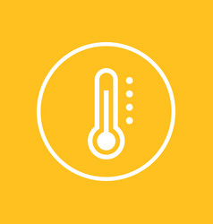 thermometer icon in circle vector image