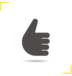 thumbs up hand gesture icon vector image