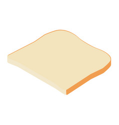 toast bread isometric vector image