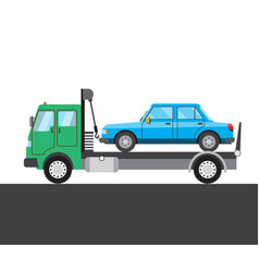 Tow truck with car picture vector