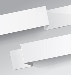 Two white diagonal sheets of paper on a grey vector