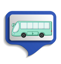 urban transports map sign icon cartoon style vector image