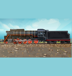 Vintage train vector