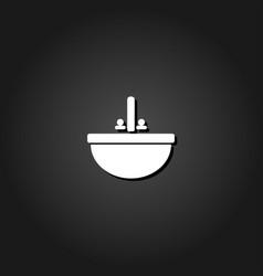 washbasin icon flat vector image