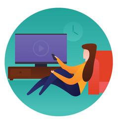 Watching video vector