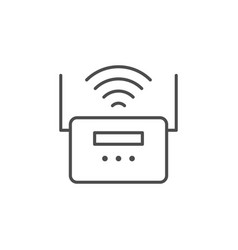 wi-fi router line outline icon vector image