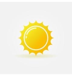 Yellow sun logo vector image