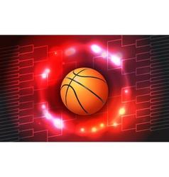 Basketball Tournament Bracket and Ball vector image