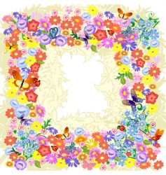 frame flower romantic vector image vector image