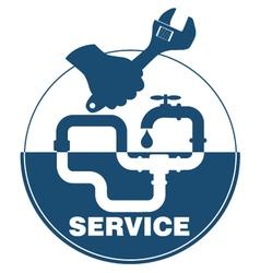 Plumbing service emblem vector image vector image