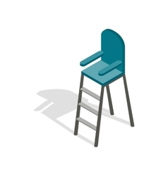 Tennis referee chair icon isometric 3d style vector image