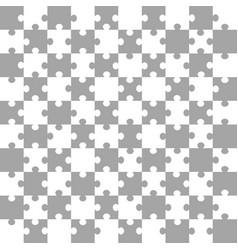 white-gray puzzle background vector image