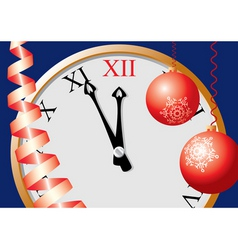 5 minutes up to christmas vector image vector image