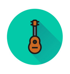 acoustic guitar icon on white background vector image
