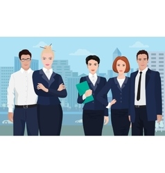 Business team formed of young businessman standing vector image vector image